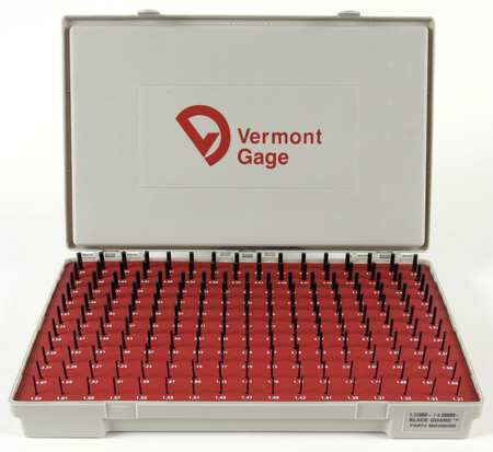 1.31-4.99mm Noir VERMONT GAGE 902300200 PIN Gage Set Plus