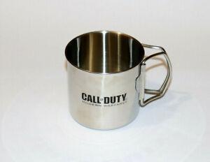 Call-of-Duty-4-Modern-Warfare-Rare-Steel-Mug-Cup-Xbox-360-PS3