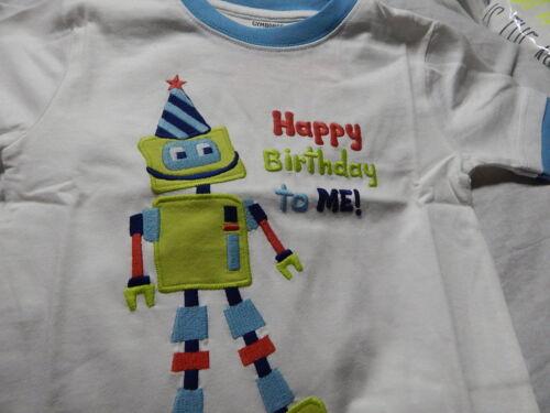 NWT 2T or 3T GYMBOREE BIRTHDAY ROBOT TOP SHIRT