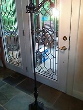 """antique bridge arm floor lamp 59"""" Tall Rewired cast iron details super condition"""