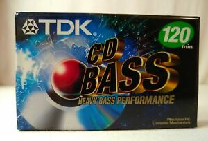 NEW 1 TDK CD BASS 120 Minute Blank Cassette Tape Normal Bias Fast Shipping