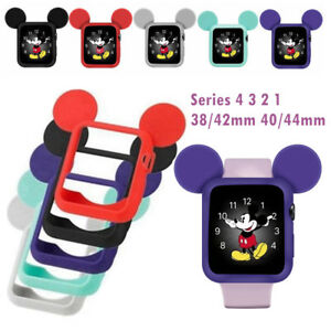 more photos d1184 36c5b Details about Mickey Mouse Ears Protective Case Cover for Apple Watch  1/2/3/4 38/42mm 40/44mm