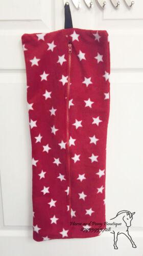 Royal Bleu//Rouge//Noir//Bleu marine étoiles blanches taille standard Selle Couverture et Bride Sac