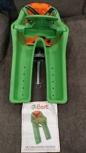 Ibert Front Mount Bicycle Baby Seat NEW Steering Wheel Bike Child Carrier Green