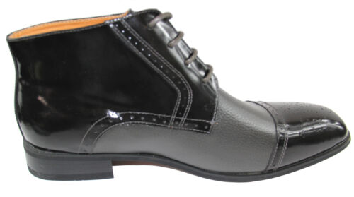 New men/'s shoes dress formal real leather boots lace wedding prom gray