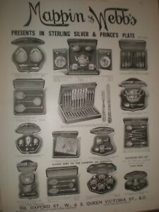 Mappin-amp-Webb-039-s-Presents-silver-and-Prince-039-s-plate-advert-1893-ref-AT