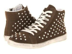 Bottes-Steve-Madden-Twynkle-Sale-High-Top-rivets-fashion-Baskets-Lacets-Taupe