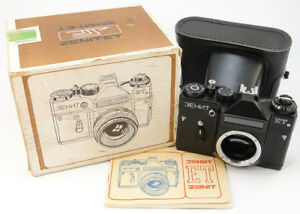 NEU-1989-Zenit-ET-Russische-Sowjetische-UdSSR-SLR-35mm-Kamera-m42-Body-amp-Case