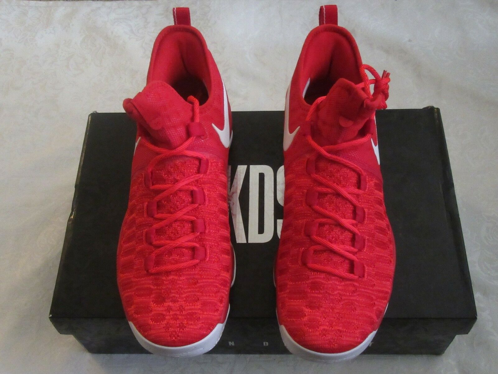 Nike Zoom KD 9 KD9 KD9 KD9 University Red White 843392 611 Men US Size 11 Sneakers e495e1