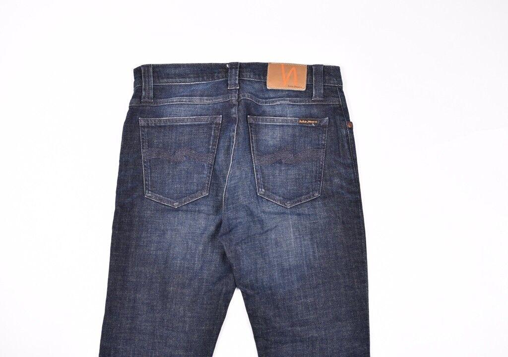 Nudie Hoch Kai Org.used Marineblau Herren Damen Jeans Größe 30, Echt  | Schönes Aussehen  | Luxus  | Viele Stile