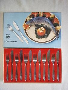 Fischbesteck WMF Fisch Dekor 70er 80er ab je Teil Messer oder Gabel ab je 1 € - Ammeldingen, Deutschland - Fischbesteck WMF Fisch Dekor 70er 80er ab je Teil Messer oder Gabel ab je 1 € - Ammeldingen, Deutschland