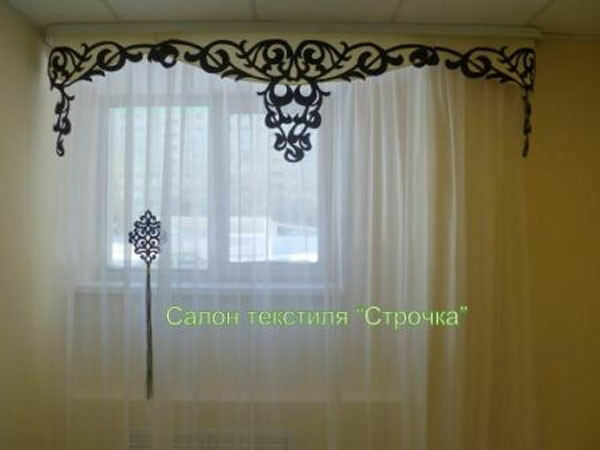 Curtain Handmade Valance Panel Tie Side Tassel Fringe Decor Home Window Door