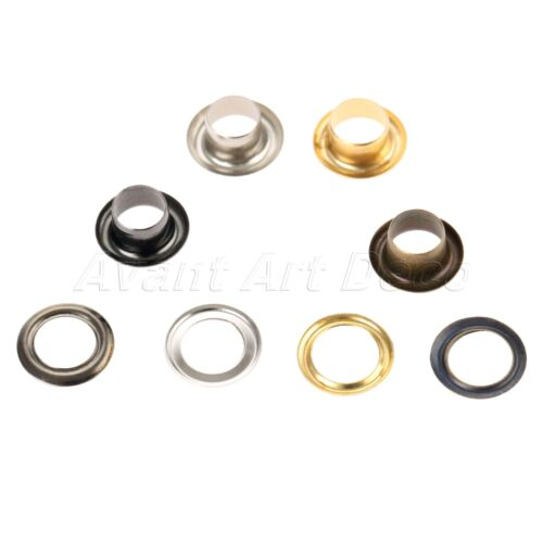 100pcs 6mm Metal Hollow Rivets Accessories For Handmade Leather Craft Work DIY
