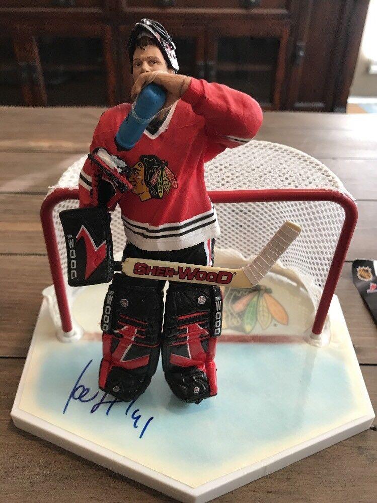 Signed Jocelyn Thibault Mcfarlane  NHL  Series 4 Variant Figure Autograph
