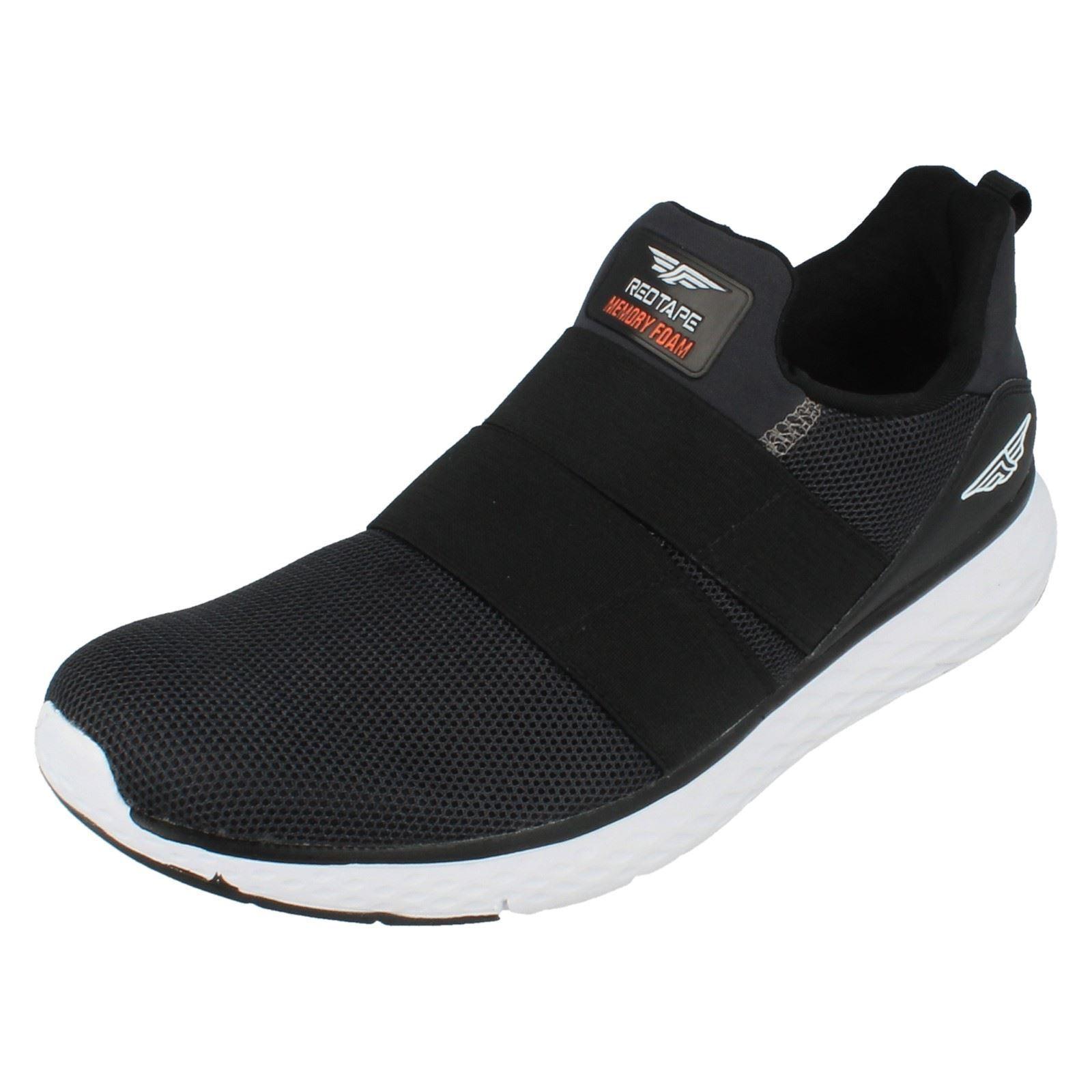 Redtape rsc0064 homme noires W à enfiler Baskets shoes W noires / mousse à mémoire de 89d041
