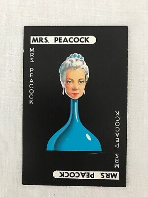 Cluedo Board Game - Replacement Character Card Mrs White 1965 Waddingtons