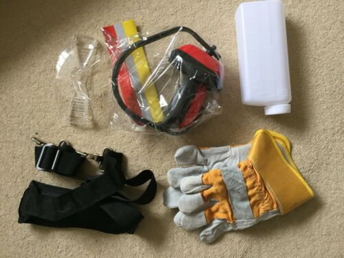 BRUSH CUTTERS GLOVES,HARNESS,GOGGLES,EAR MUFF AND FUEL MIXTURE FIT STRIMMERS
