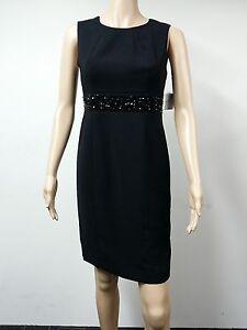 NEW-Kasper-Separates-Size-4P-Sleeveless-Beaded-Evening-Dress-Black-99
