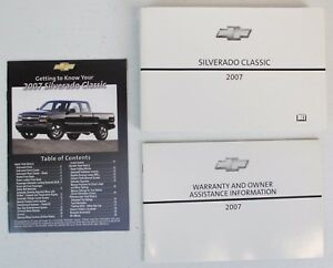 genuine 2007 chevy silverado classic owner s owners owner manual kit rh ebay com 2007 chevy silverado 1500 owners manual 2007 chevy silverado 1500 owners manual