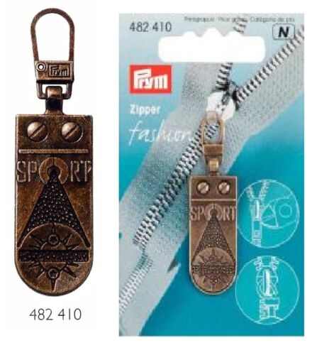 1 Sport Zipper Nr 482410 altmessing Reißverschluß  Prym Reißer Metall Jacke