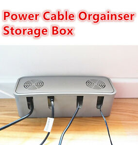 Image is loading Electrical-Wire-Cable-Organiser-Storage-Box-Socket-Cooling-