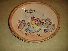 Vintage Villeroy & Boch Mettlach Cabinet Plate-France-Men & Women Dancing-Pastel