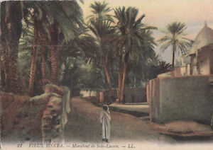 Algerien-CPA-altes-Biskra-Marabout-Sidi-lassen