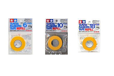 Tamiya #87033+87034+87035 6mm/10mm/18mm Masking Tape Refill Set Paint Tool Spray