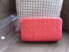Red/gold Satin  Indian design Make up Bag boxed