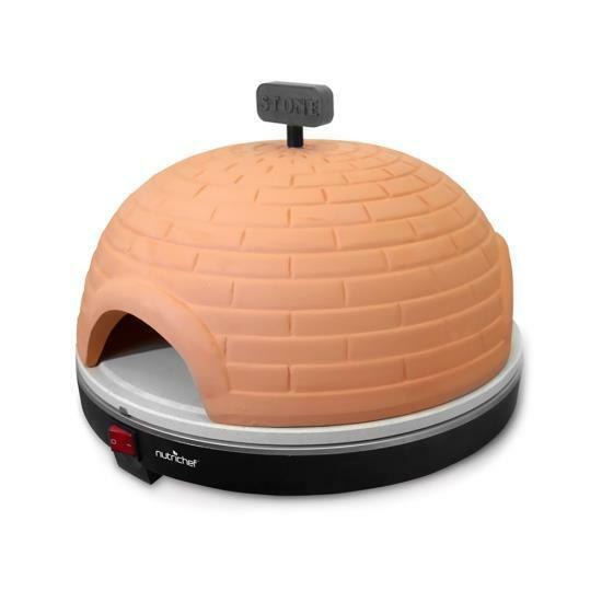 NutriChef PKPZ950 Electric Pizza Pit Oven, Pizza maker oven, Stone
