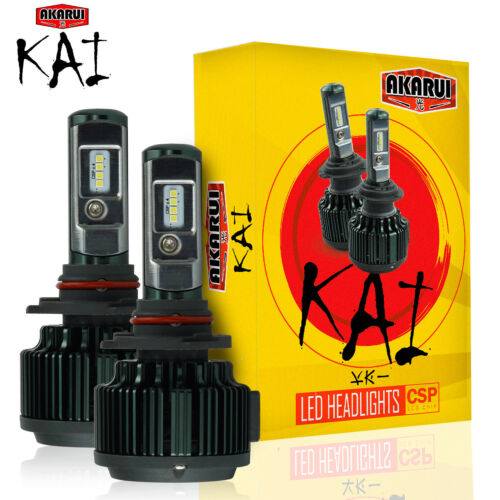 KAI AKARUI 9005 LED Headlight Bulbs Conversion Kit 7000 LM 6000K White Pair