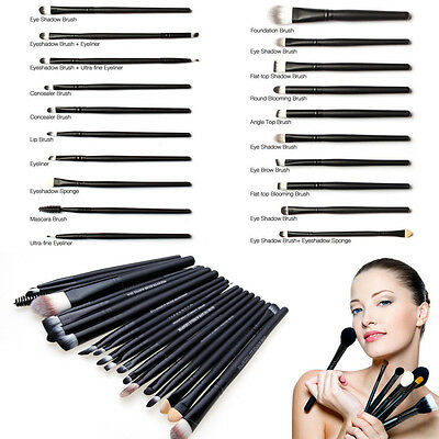 20pcs Makeup Brushes Set Foundation Eyeshadow Eyebrow Eyeliner Lip Brush Tool