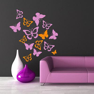 01113 Wall Stickers Sticker Adesivi Murali Design Farfalline fantasia 65x70cm