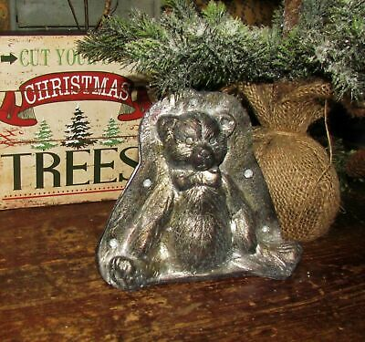 Belsnickle Santa Claus with Tree Tin Style Silver Resin Chocolate Mold