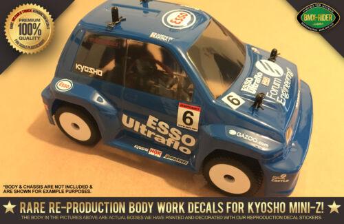 """R//C Kyosho Mini-Z Toyota Supra /""""ESSO ULTRAFLO/"""" GT500 Body RC Decal Stickers"""