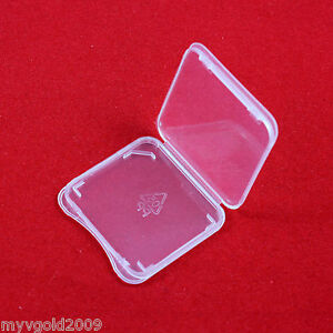100 pcs SD Card Protect Plastic Case Holder,Jewel Cases, SDHC,SDXC Card Case,New