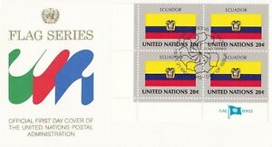 UN154-United-Nations-1984-Ecuador-20c-Stamp-Flag-Series-FDC-Price-8-00