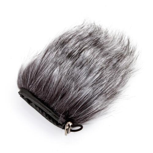 9cm micrófono parabrisas Isolation Escudo micrófono de piel manguito reducir el ruido del viento Cortador