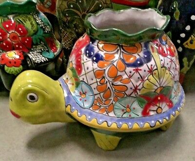 - LARGE Assorted Colors FISH PLANTER ANIMALS H TALAVERA MEXICAN POTTERY
