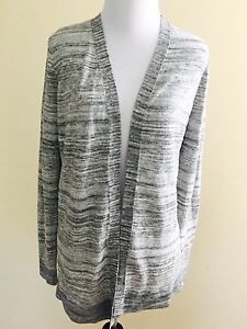 Lou-And-Gray-Ann-Taylor-Loft-Black-Gray-Mixed-Cardigan-Sweater-Size-Xs