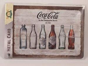 Details about COCA COLA Bottles Timeline - Metal Card Tin Sign by Nostalgic  Art