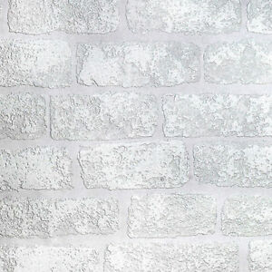 Image Is Loading Paintable Wallpaper 3D Brick Effect Luxury Textured Vinyl