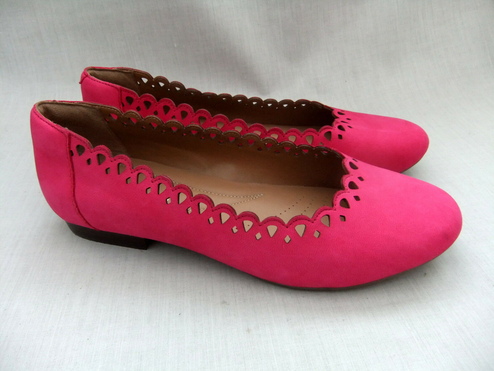NEW CLARKS HENDERSON RICH femmes FUCHSIA NUBUCK LEATHER chaussures Taille 6   39.5