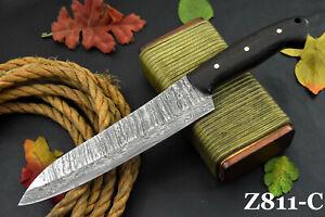 Custom San Mai Damascus Steel Chef Knife Handmade With Vengai Handle (Z811-C)