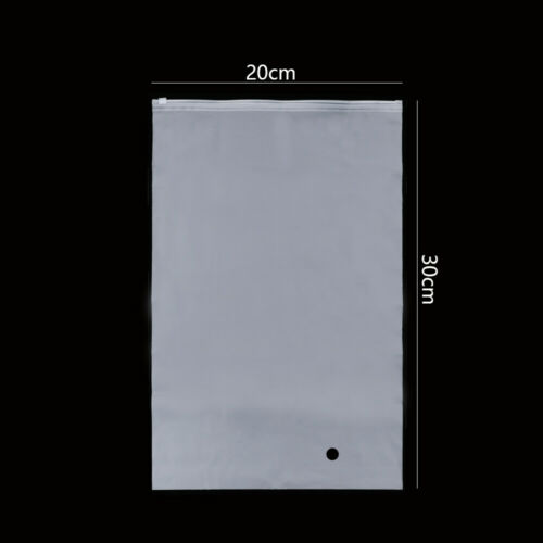 Matte Frosted Transparent Zip lock Bag Travel Pouch Package Swimming Bags