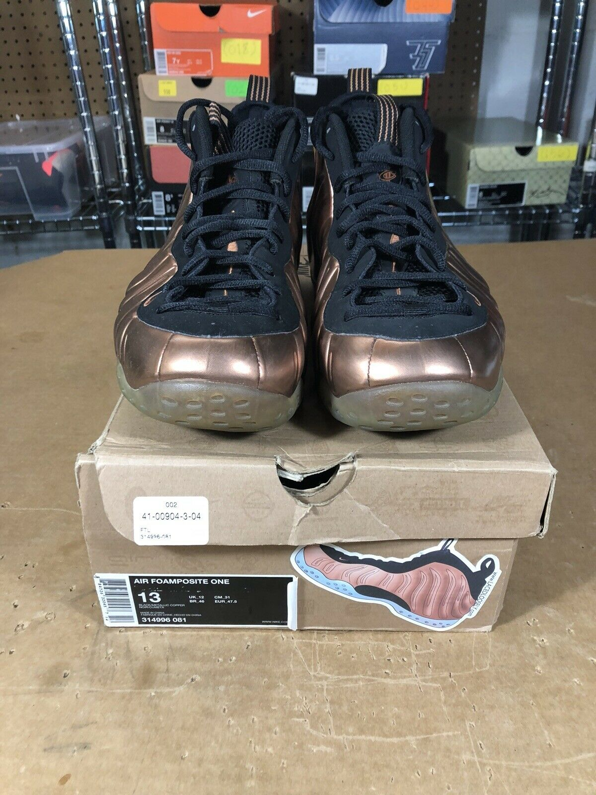 100% Authentic Nike Air Foamposite One Copper Size 13 314996 081