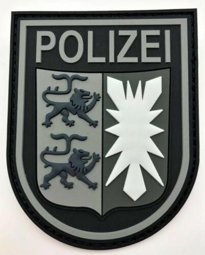 Polizei Schleswig-Holstein Black Ops Rubber Klett Patch