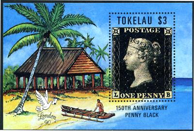 Hart Arbeitend Tokelau 1991 150 J. Briefmarken Penny Black London, Block 1 ** Mnh Attraktives Aussehen