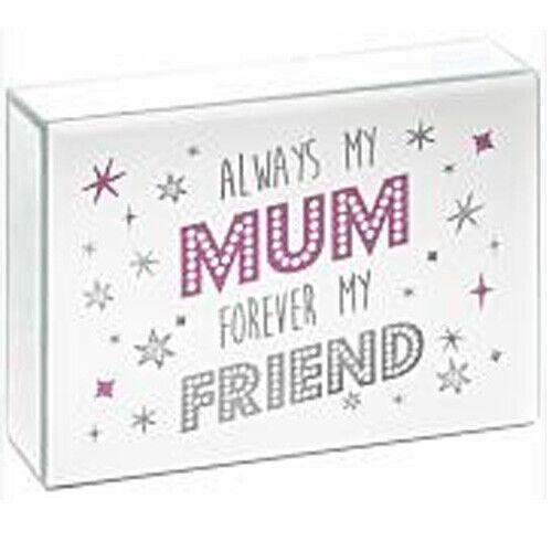 Nouvelle Maman Miroir Lumière DEL Boîte Décoration d/'intérieur cadeau Plaque mère sentiments