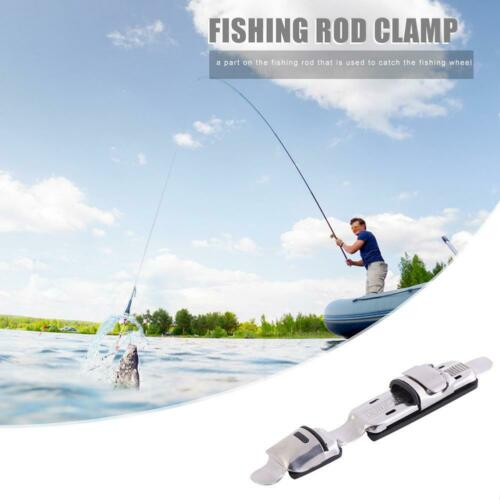 Stainless Steel Fishing Reel Seat Holders Fishing Rod Clips Fish Reel Stand